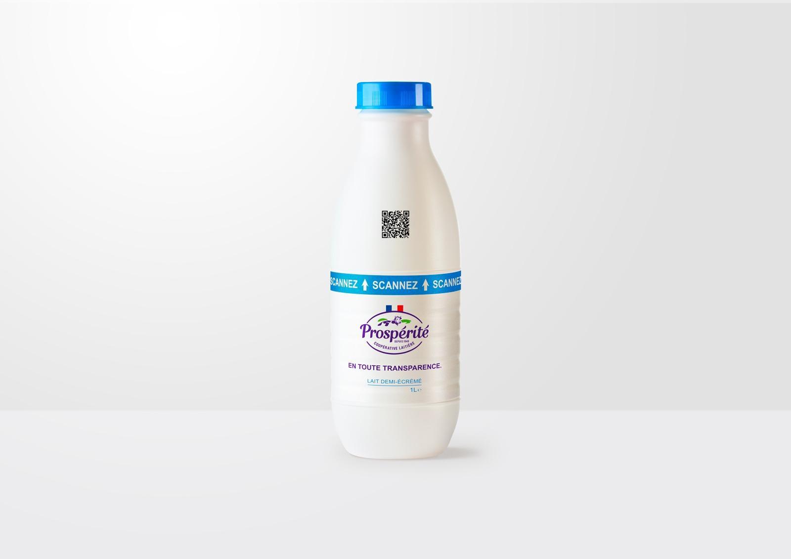 lait connecte prosperité digital qr code audité en temps reel certifie