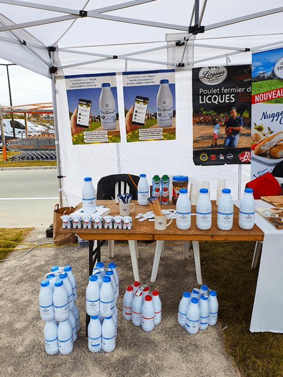 animation magasin O'Tera lait goodies ecoresponsable RSE lait à l'herbe